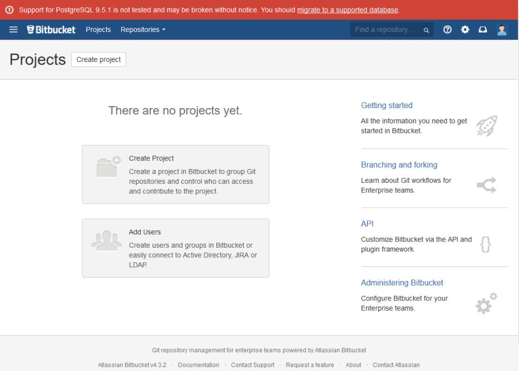 Bitbucket home page